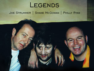 Joe Strummer, Shane McGowan with Philly Ryan in his pub